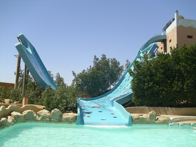 Aqua park slide holiday.