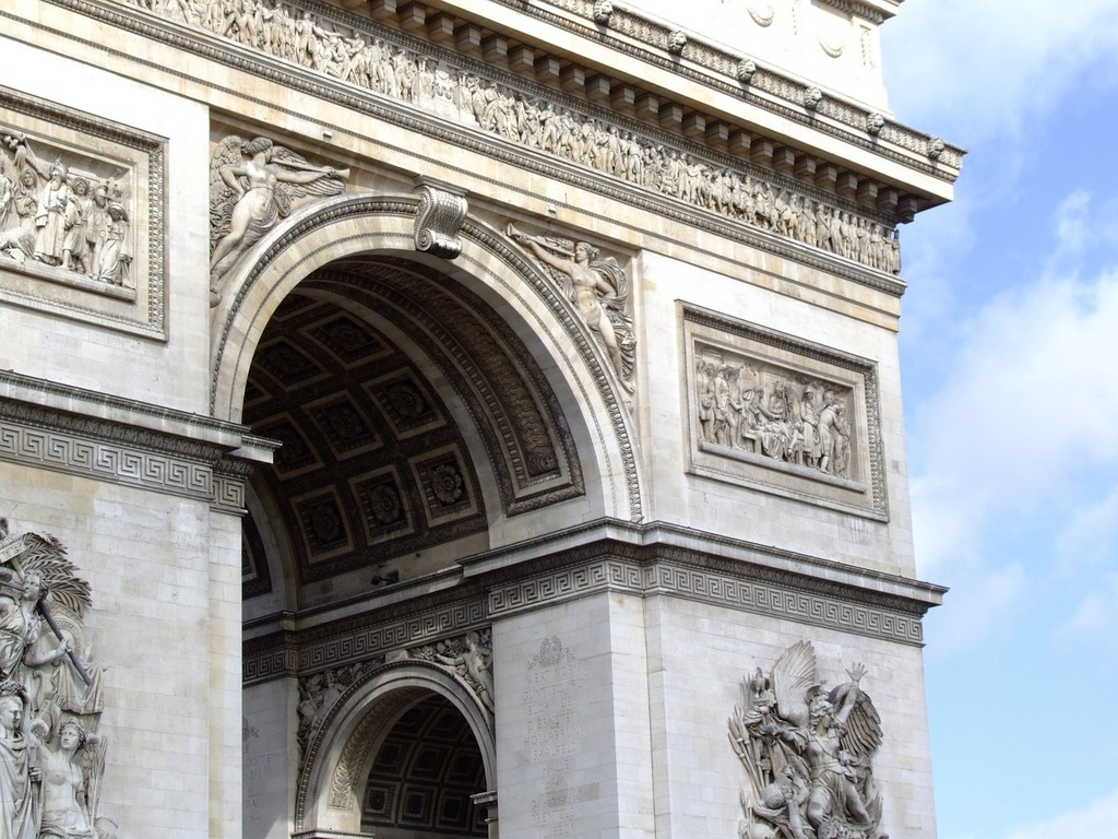 Arc de triomphe, architecture buildings.