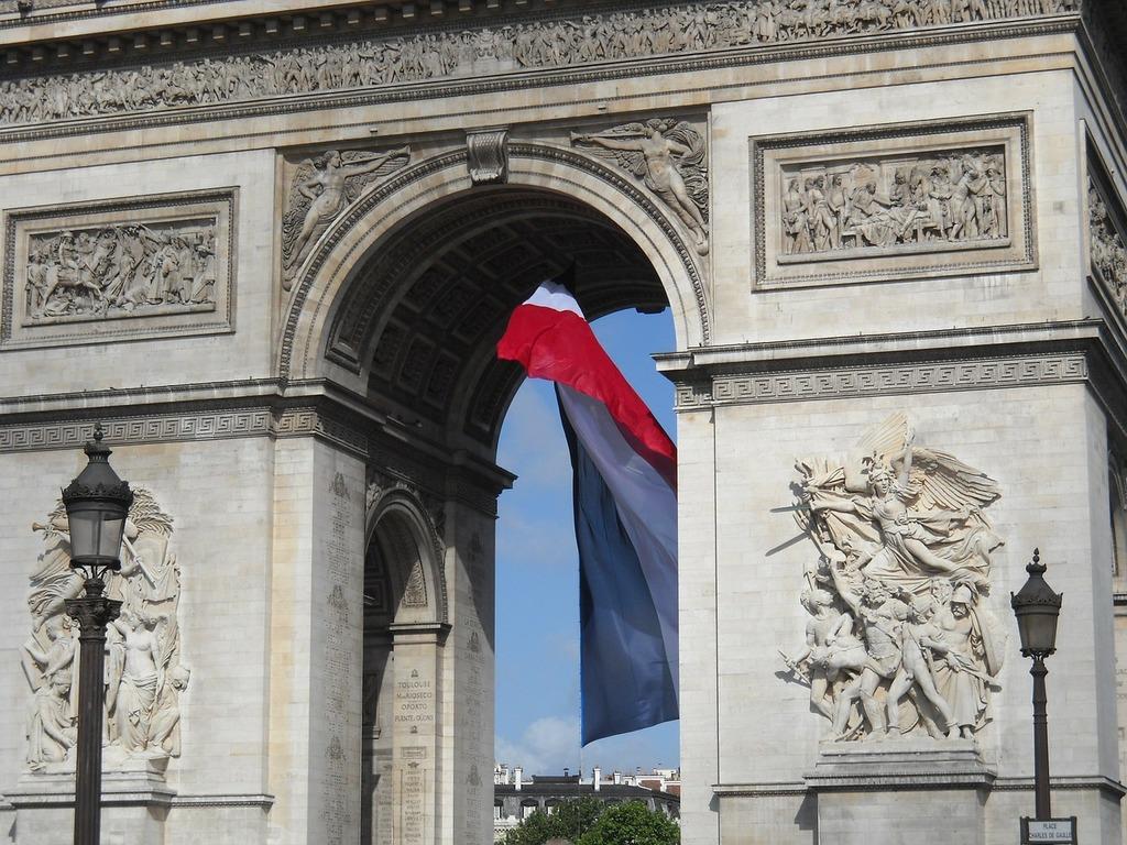 Arc de triomphe paris france, architecture buildings.