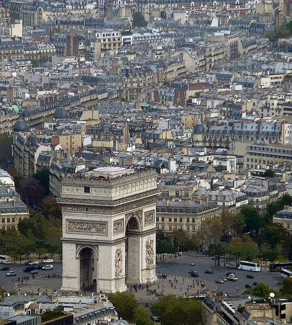 Arc de triomphe paris france, architecture buildings.