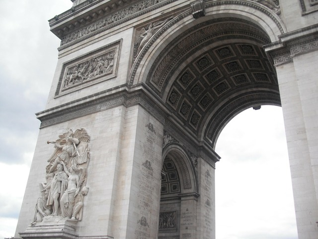 Arc de triomphe paris france, places monuments.