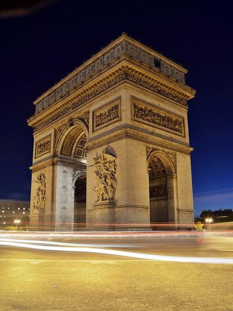 Arc de triomphe paris france, places monuments.