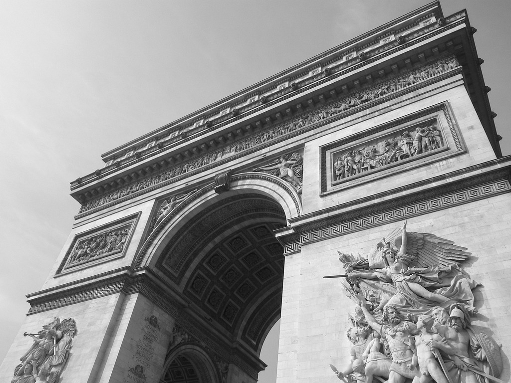 Arc de triomphe paris monument, architecture buildings.