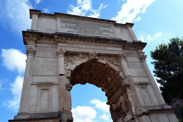 Arch of titus square rome.