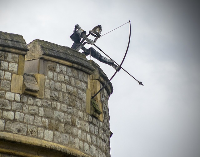 Archer turret tower, architecture buildings.