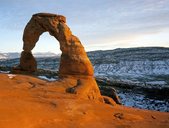 Arches national park delicate arch stone arch.