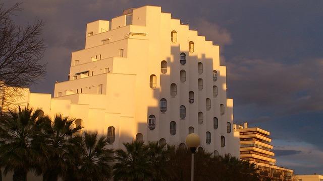 Architecture city sunset, architecture buildings.