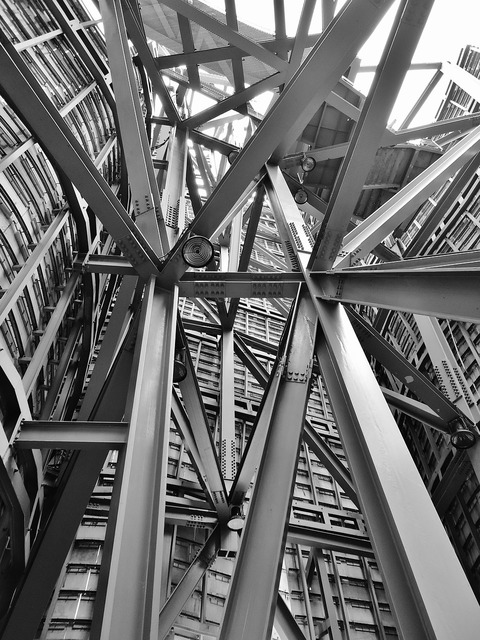 Architecture iron steel, architecture buildings.