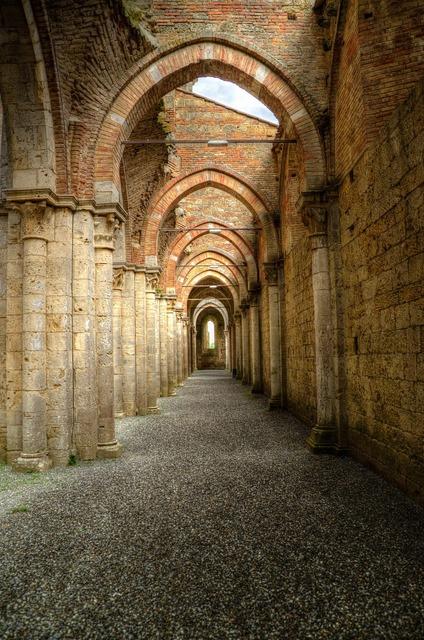 Archway peristyle gothic, religion.