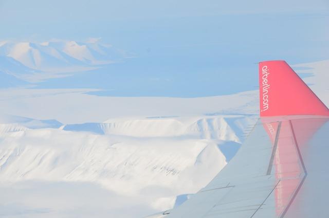 Arctic ice flight.
