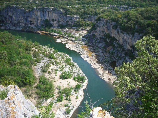Ardeche river france.