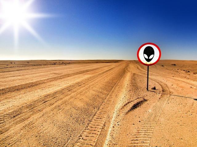 Area 51 alien warning, transportation traffic.