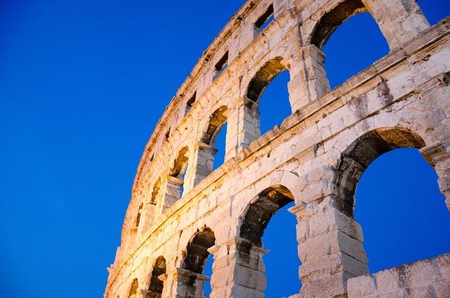 Arena building roman, architecture buildings.