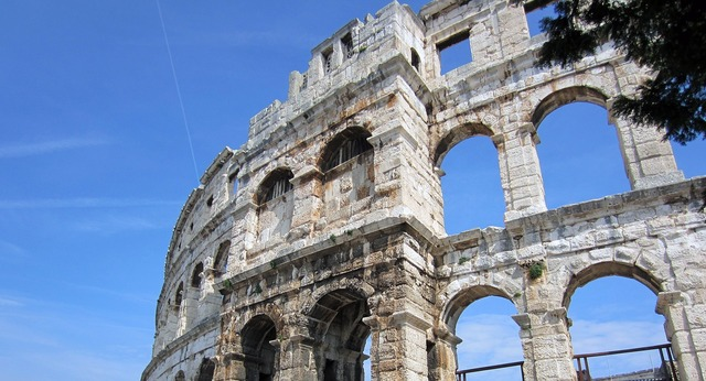 Arena pula croatia, architecture buildings.