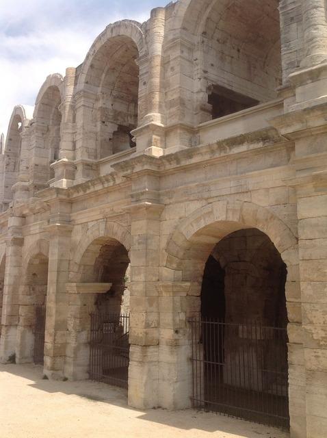 Arena roman arles, architecture buildings.