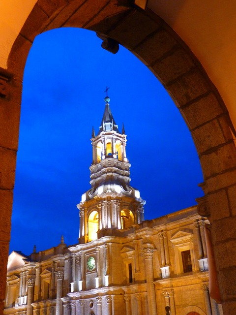 Arequipa cathedral peru, architecture buildings.
