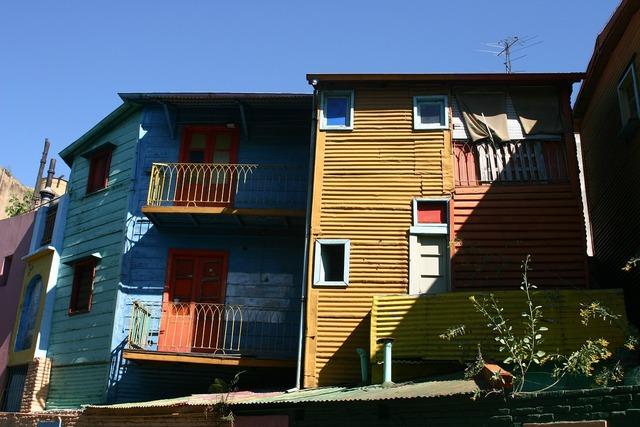 Argentina buenos aires district, architecture buildings.