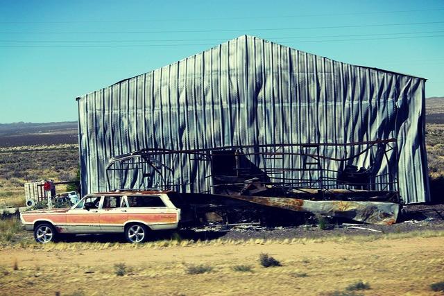 Arizona road old car, transportation traffic.