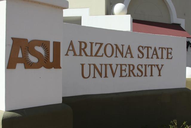Arizona state university asu sign.