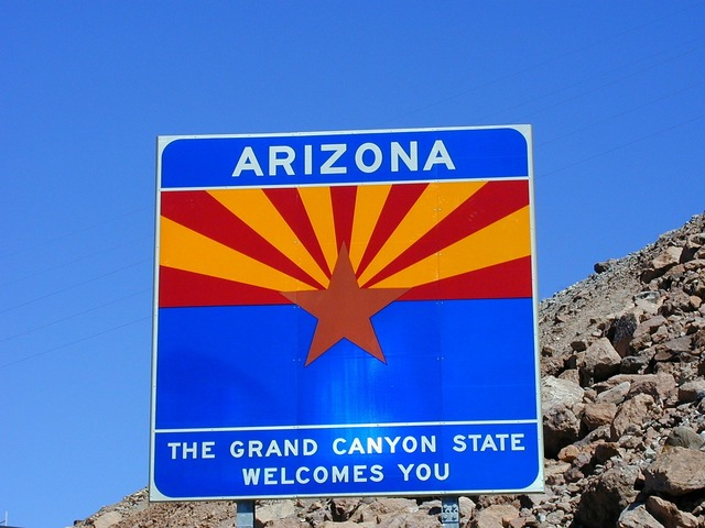 Arizona welcome canyon state.