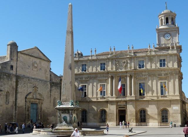 Arles france rhône, architecture buildings.
