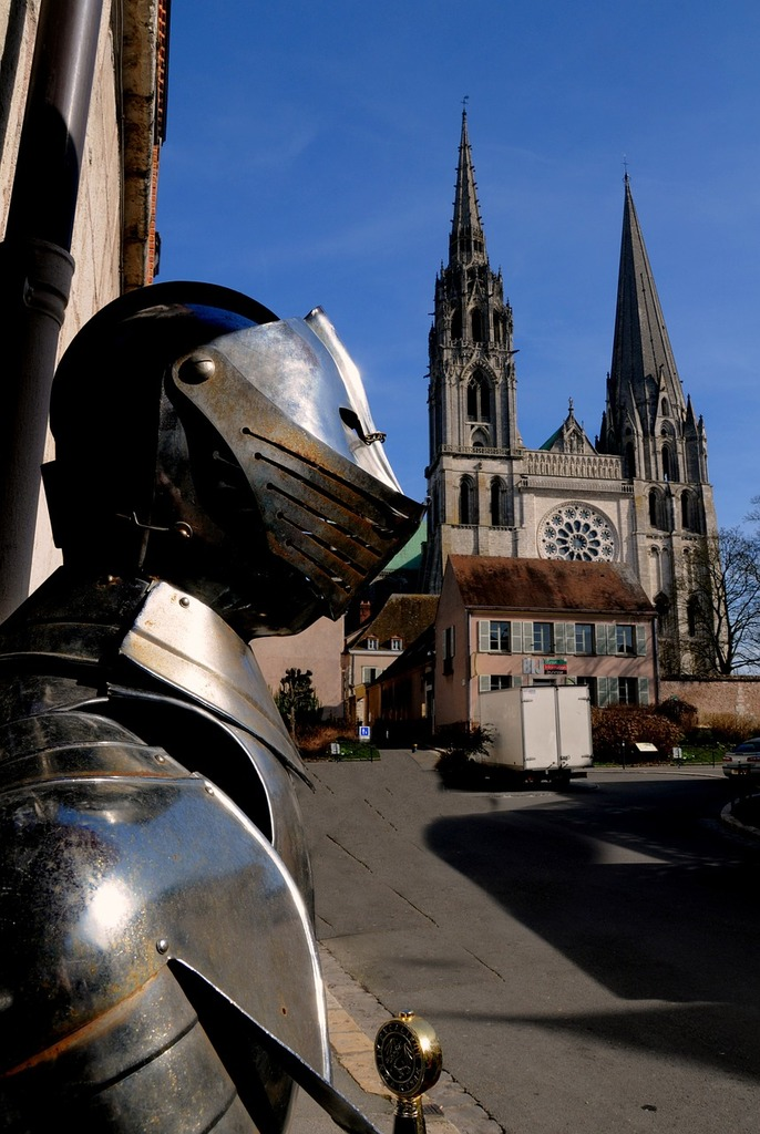 Armor medieval cathedral.