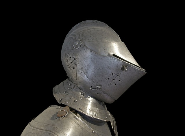 Armor metal helmet.