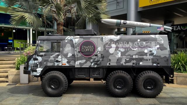 Armoured vehicle military coffee.