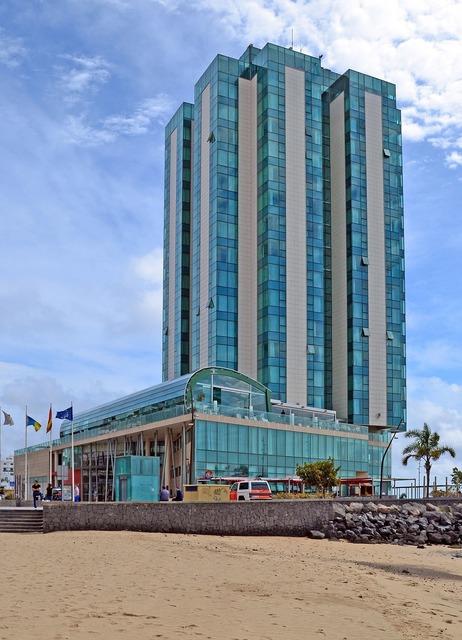 Arrecife gran hotel lanzarote, architecture buildings.