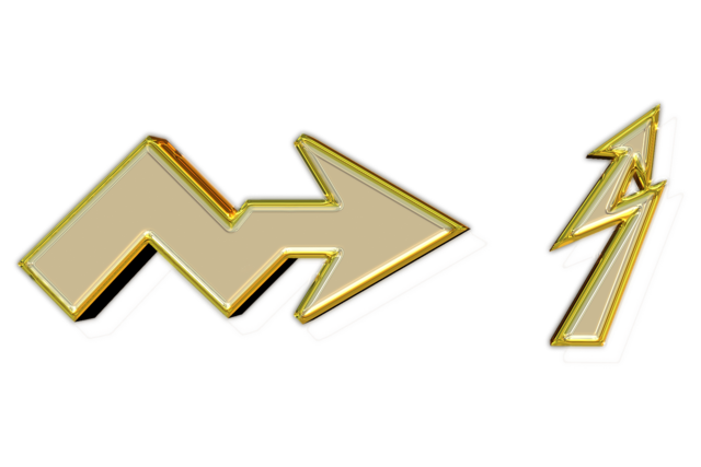 Arrow gold png.