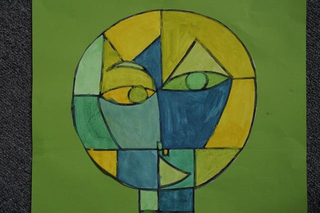 Art class paul klee watercolor, education.