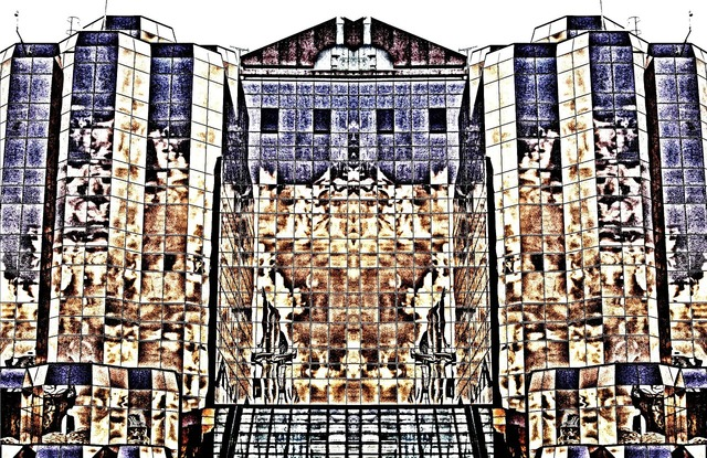 Art effect building, architecture buildings.