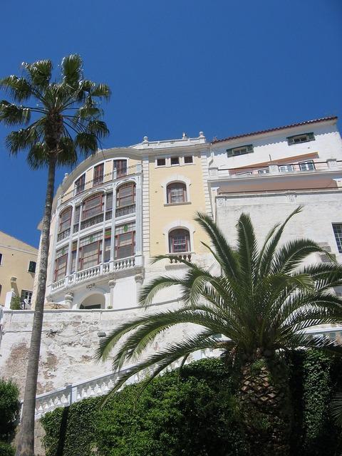 Art nouveau architecture palm, architecture buildings.