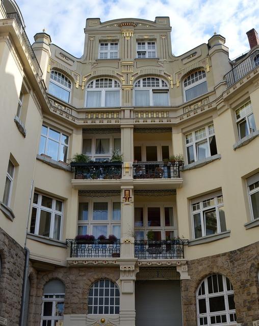 Art nouveau gründerzeit villa, architecture buildings.
