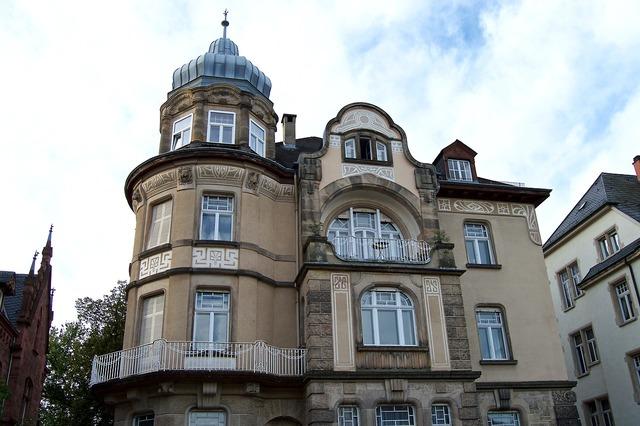 Art nouveau gründerzeit weststadt, architecture buildings.