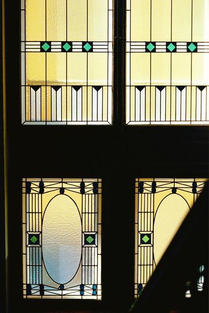 Art nouveau window architecture, architecture buildings.