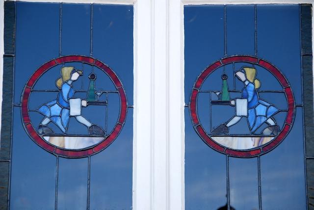 Art nouveau window swakopmund.