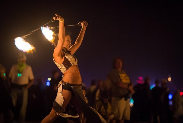 Artists fire dancer fire, beauty fashion.