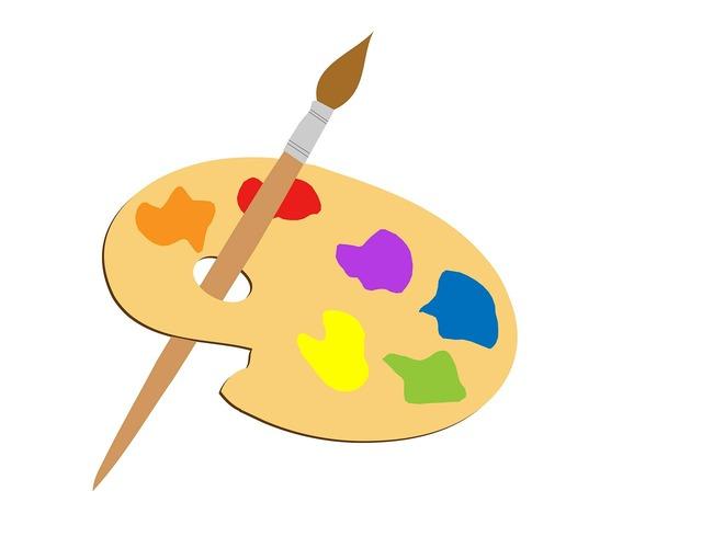 Artists palette palette paint.