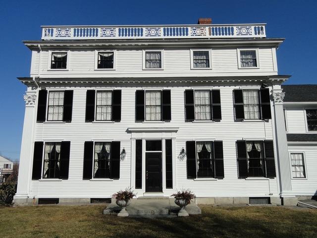 Asa waters mansion millbury massachusetts, architecture buildings.