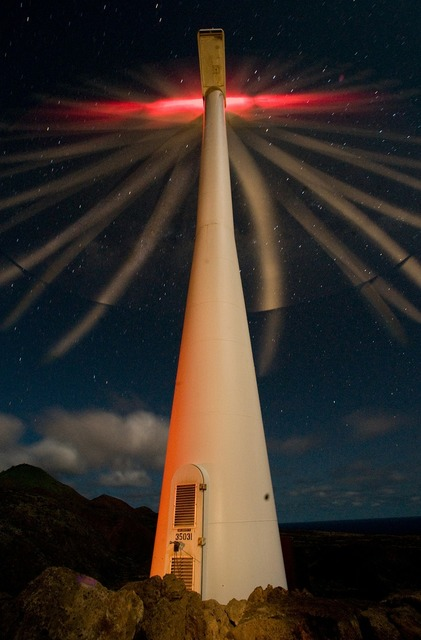 Ascension island wind turbine energy, science technology.