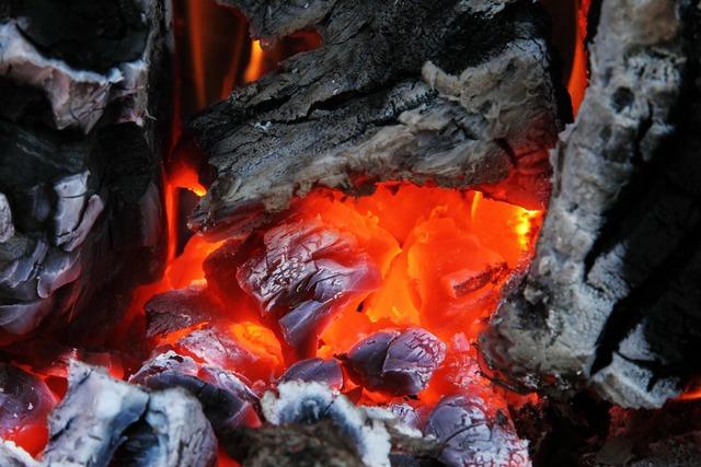 Ash burn campfire.