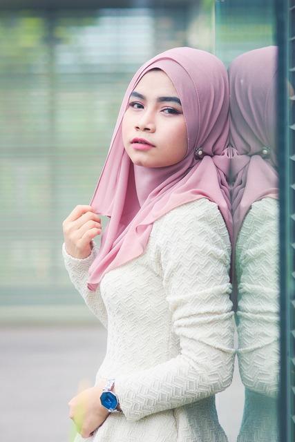 Asian women hijab, people.