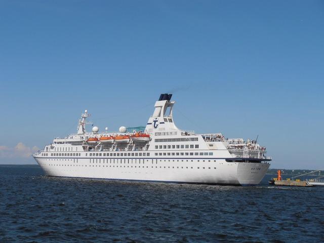 Astor ship departing, travel vacation.