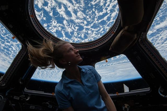 Astronaut cupola international space station.