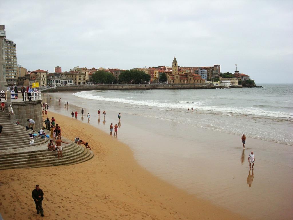 Asturias beach of, travel vacation.