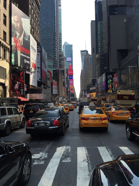 At new york the traffic the taxi.