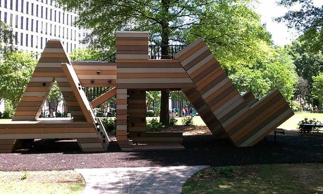 Atlanta sign city park, travel vacation.