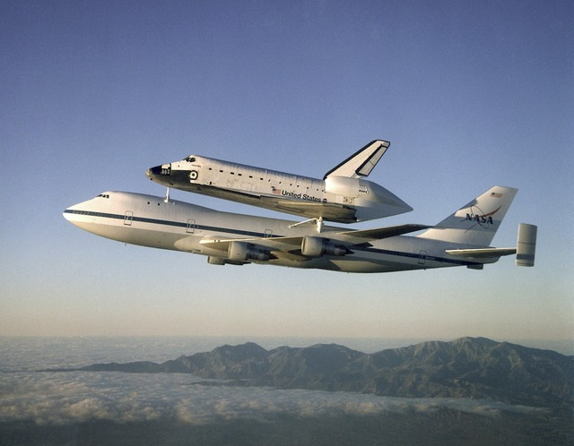Atlantis on shuttle carrier aircraft aerospace, industry craft.