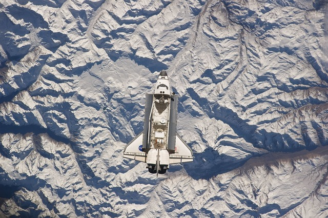 Atlantis space shuttle andes, transportation traffic.